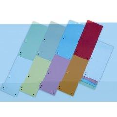 Przekładki kartonowe wąskie DONAU 1/3 A4 mix kolorów 100szt.