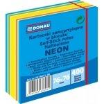 Kostka samoprzylepna DONAU, 76x76mm, 1x400 kart, neon-pastel, mix niebieski